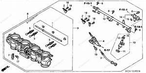 Honda Motorcycle 2002 Oem Parts Diagram For Throttle Body