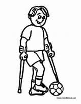 Needs Special Coloring Pages Disabilities Printable Children Worksheets Crutches Activities Sports Disability Colouring Blind Colormegood Playing Crafts Paper Student Specialneeds sketch template