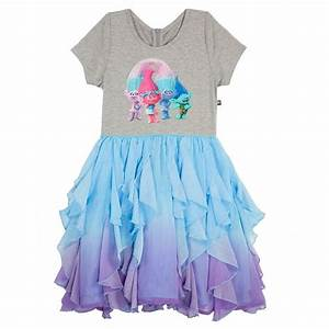 girls39 trolls dress multicolor xs girl39s multicolored With robe trolls