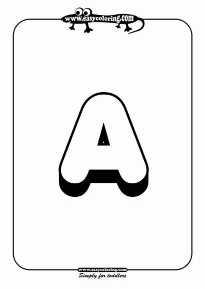 Alphabet Letter Coloring Letters Printable Pages Colouring