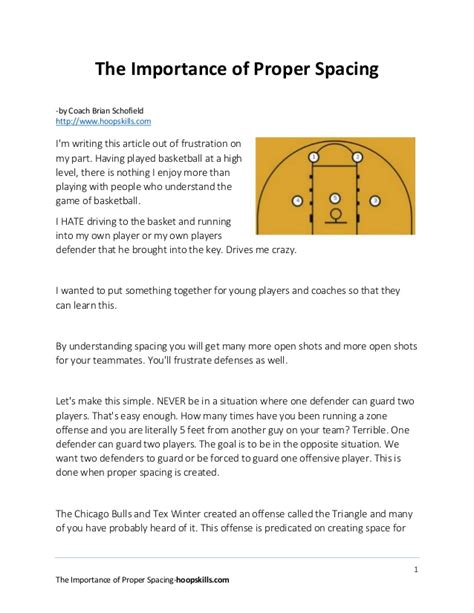 The Importance Of Proper Spacing In Basketball