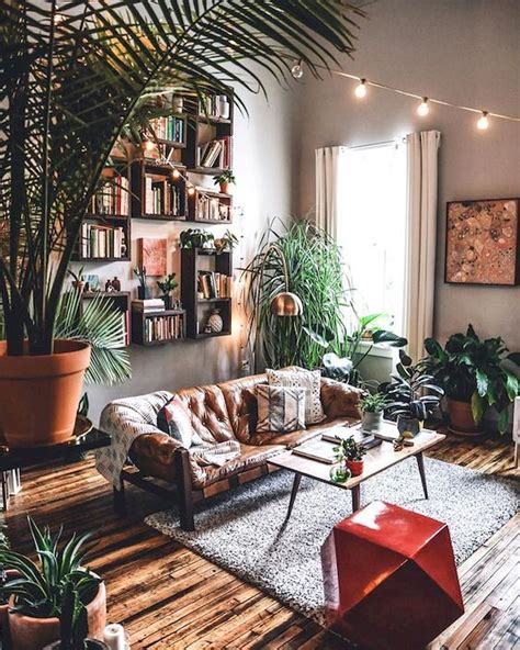 Get inspired with the stunning boho living rooms! 55 Bohemian Living Room Decor Ideas (50) - Googodecor