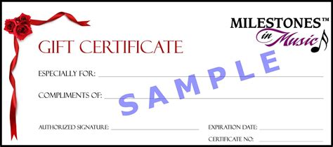 gift certificate templates excel  formats