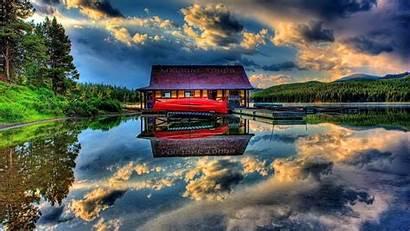 Park Lake Jasper National 1080p Wallpapers Canada