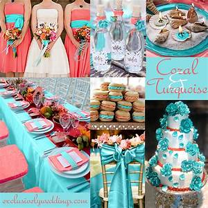 Coral wedding color combination options you don39t want for Coral and turquoise wedding ideas