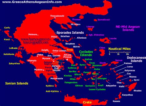 map  greek islands