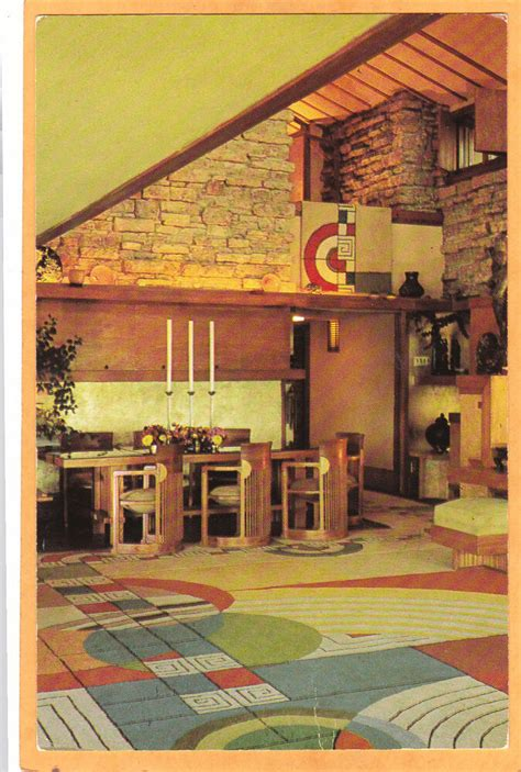 architecture postcard taliesin spring green wi frank