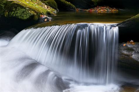 water falling great smoky mountains photograph  rich franco