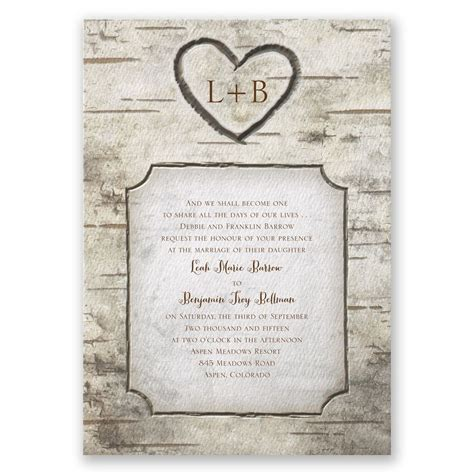 Country Wedding Invitation Wording Template