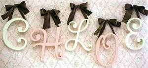 small cursive wooden hanging letters by new arrivals inc With cursive wooden letters