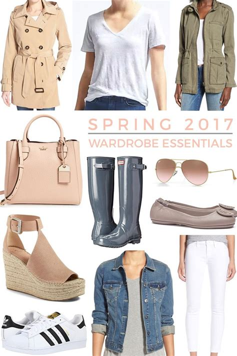 spring wardrobe essentials  style outfit ideas