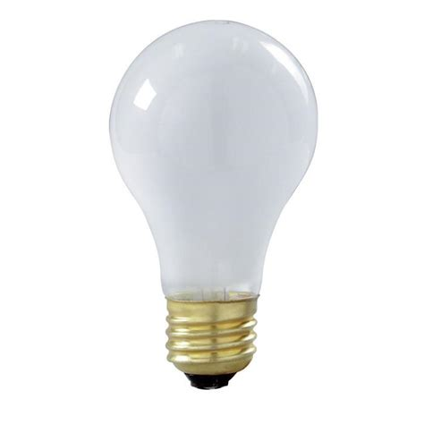 satco s3936 100w 130v a23 frosted e26 base incandescent