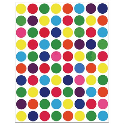 colored circle stickers colored circle 1 2 quot stickers circle stickers hygloss