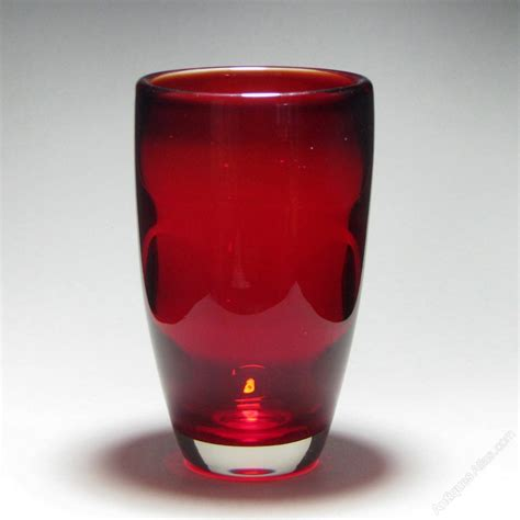 Whitefriars Glass Vase by Antiques Atlas Whitefriars Flared Ruby Glass Vase
