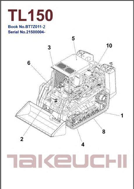 takeuchi tl crawler loader service workshop parts manual   cd tl   sale
