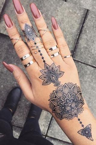 aiyana tribal lotus mandala temporary tattoo tattoo