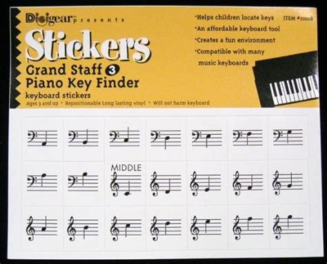 Top Piano Key Finder / Keyboard Stickers For The Early