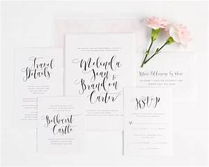 flowing calligraphy wedding invitations wedding With calligraphy on wedding invitations do it yourself