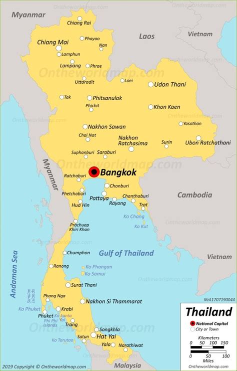 thailand maps maps  thailand