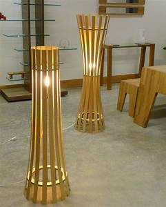 unique floor lamps with out of the ordinary designs With making a wooden floor lamp