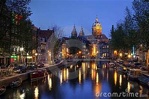 Where Is The Red Light District In Amsterdam Street Name St Nicholas Church In Amsterdam The Netherlands Stock