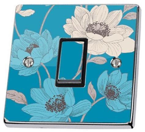 blue floral light switch sticker vinyl sophie conran