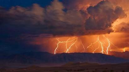 Lightning Thunderstorm Storm Rain Clouds Sky Nature