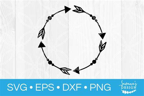 arrow circle monogram frame svg custom designed illustrations creative market