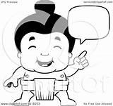 Sumo Wrestler Clipart Cartoon Lineart Talking Illustration Royalty Cory Thoman Vector sketch template