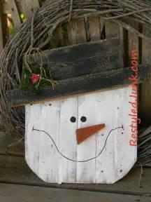 rustic wood snowman head allfreechristmascrafts com