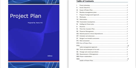project plan template word templates