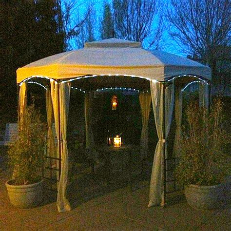 solar rope light kit for gazebo garden winds