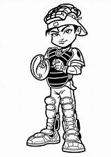 Baseball Player Catcher Coloring Cartoon Pages Clipart Mlb Cute Kid Cliparts Cartoons Print Clip Drawings Super Boy Heros Printable Getcoloringpages sketch template