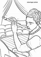 Coloring Flute Instruments Musical Malvorlagen sketch template