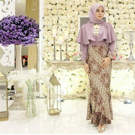 model dress baju batik 44 model baju batik kombinasi brokat modern untuk pesta
