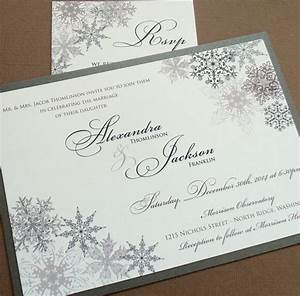 lacy snowflake winter wedding invitation december january With samples of silver wedding invitations