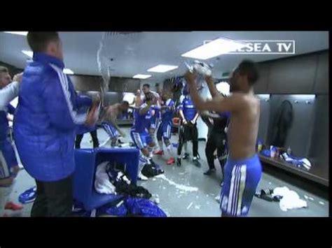 chelsea fc fa cup final  dressing room celebrations