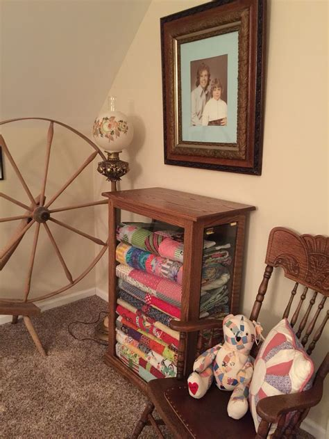 quilt display case cabinets images  pinterest