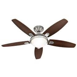 hunter ceiling fans contempo 52 in brushed nickel indoor