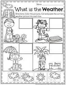 whats  weather  printable matching worksheet