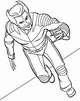 Coloring Pages Superhero sketch template