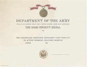 good conduct certificate template choice image template With army good conduct medal certificate template
