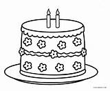 Cake Coloring Birthday Printable Cool2bkids sketch template