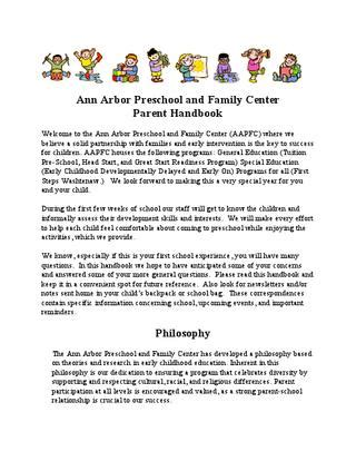 preschool parent handbook 2010 11 by community education 942 | page 1 thumb large