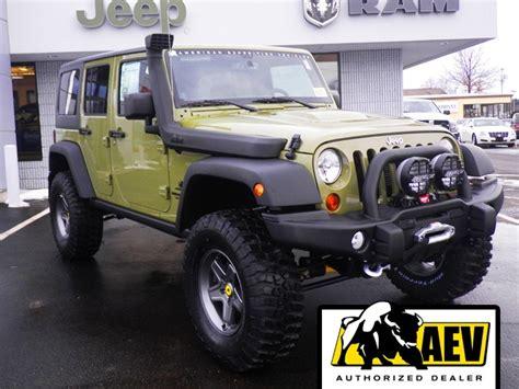 commando green jeep lifted 2013 jeep wrangler unlimited rubicon aev commando green