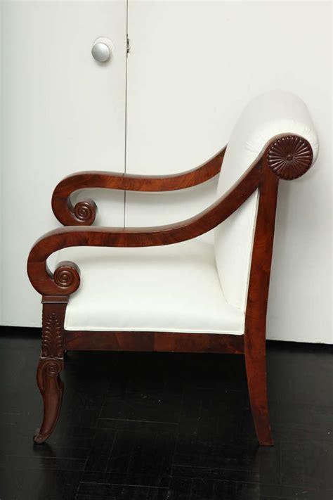 19th century mahogany restauration fauteuil at 1stdibs