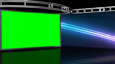 Animated Spaceship Hangar Green Screen Video Footage Stock