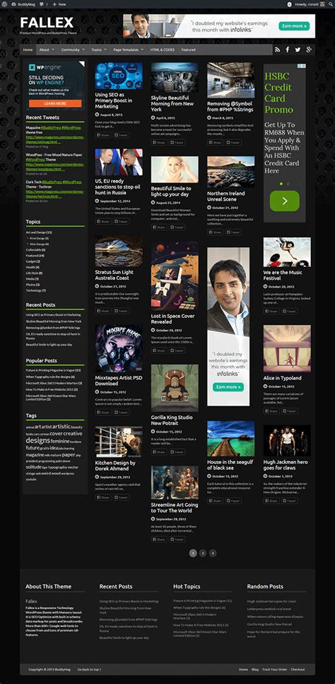 Free Themes With Infinite Scroll Fallex Free Theme With Infinite Scroll And