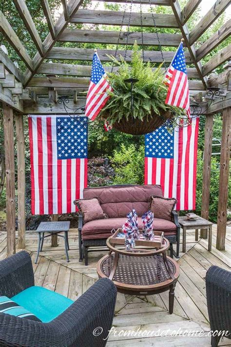 Decorating Ideas For July 4th by Easy Fourth Of July Outdoor Decor Ideas
