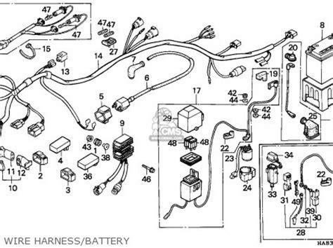 honda trx250 fourtrax 1985 f canada parts lists and schematics